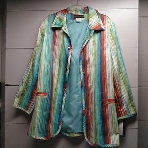 Harve Benard Raincoat in Colorful Print